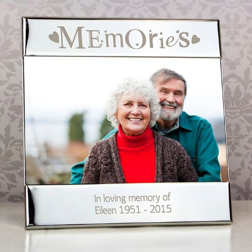 Personalised Silver Memories Square 6x4 Frame
